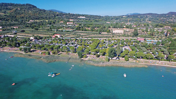 Lakeside Location at Serenella Campsite Lake Garda